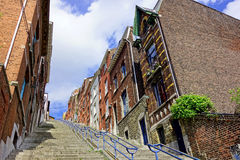 Liege stairs. Bueren street in Belgium royalty free stock photo