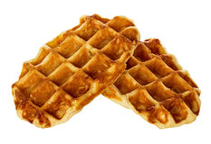 Liege waffles, pastries isolated Royalty Free Stock Photos