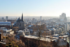 Liege winter skyline Stock Photos