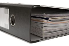 Liegende schwarze Bogen-Hebel-Datei Lizenzfreie Stockfotografie