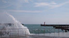 Liegeplatz in Jalta, Ukraine, Krim Lizenzfreie Stockbilder
