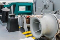 Liegeplatzausrüstung des Schiffs Leere Handkurbel Stockfotografie