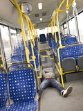 Lieing on the bus Stock Photography