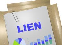 Lien - business concept. 3D illustration of LIEN title on business document Stock Image