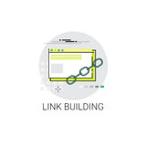 Lien construisant Seo Keywording Search Icon Images stock