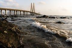 Lien de mer de Bandra - de Worli image libre de droits