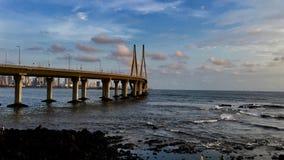 Lien de mer de Bandra Worli en tout il gloire du ` s image stock