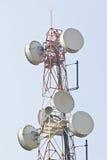 Lien de relais radioélectrique, station de base mobile. Images stock