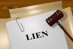 Lien - Rechtsauffassung Lizenzfreies Stockfoto