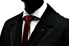 Lien rouge au-dessus de costume élégant Images libres de droits