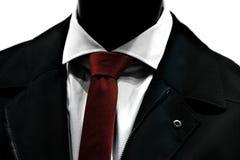 Lien rouge au-dessus de costume élégant Photo libre de droits