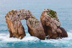 Liencres岩层 免版税库存照片