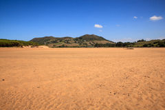 Liencres dunes nature reserve Royalty Free Stock Images