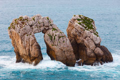 Liencres rock formations Royalty Free Stock Photos