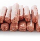 Liens bruts de saucisse Photos libres de droits