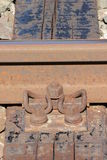 Liens ferroviaires rouillés Photo libre de droits