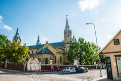 Liepaja kyrka Royaltyfri Bild