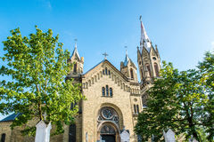 Liepaja kyrka Royaltyfria Bilder