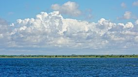 Liepaja lake on a cloudy day, Latvia. Lake of Liepaja, with high clouds above royalty free stock photography