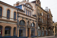 LIEPAJA, LATVIA - March, 2017: Liepaja Art Nouveau architecture stands proudly among the best examples of the style Royalty Free Stock Photo