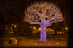 LIEPAJA, LATVIA - March, 2017: Memorable place Tree of Ghosts royalty free stock photos