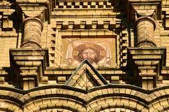 Liepaja, Letónia, o 15 de março de 2018 Feche acima do St Nicholas Orthodox Sea Cathedral Foto de Stock