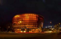 LIEPAJA, LETTONIA - marzo 2017: Teatro di varietà nello stile moderno di architettura Fotografia Stock Libera da Diritti