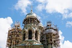 Liepaja St. Nicholas Orthodox Naval Cathedral in der Reparatur Lizenzfreie Stockfotos