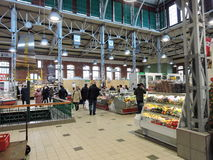 Liepaja stadmarknad, Lettland Royaltyfria Foton