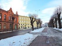 Liepaja town street, Latvia Stock Photos