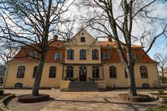 Free LIEPUPE, LATVIA - APRIL 13, 2019: Liepupes Muiza Manor In Beautiful Sunny Spring Weather With Blue Sky And Clouds Royalty Free Stock Photos - 144812818