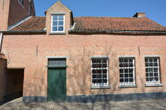 Lier, België Huis in Beguinage Stock Foto's