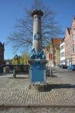 Lier, Belgien - April 2016 Historische Wasserpumpe stockfoto