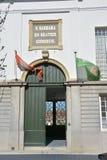 Lier, Belgien - April 2016 Redaktionell u. illlustrative Hausfassade im Beguinage lizenzfreie stockfotografie