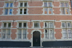 Lier Belgien Hus i Beguinagen Arkivbild