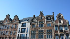 LIER, BELGIUM - APRIL 2016: fronts of houses on the central market place Stock Photography