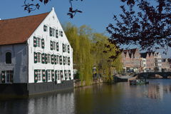 LIER, BELGIUM - APRIL 2016: View on  the Nete river Royalty Free Stock Photo
