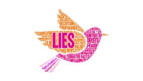 Lies Animated Word Cloud. On a white background stock footage