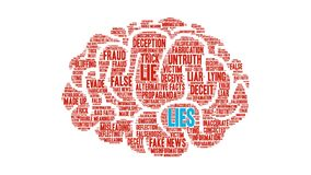 Lies Animated Word Cloud. On a white background stock video footage