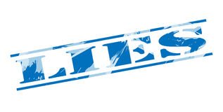 Lies blue stamp. Isolated on white background Stock Photography