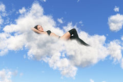Lies on a cloud Stock Photos