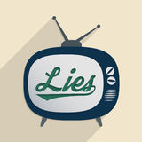 Lies. Concept for mass media, disinformation, propaganda and information security. Flat design illustration Royalty Free Stock Photography