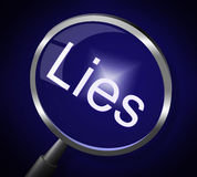 Lies Magnifier Represents No Lying And Correct Stock Photo