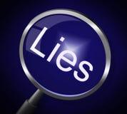 Lies Magnifier Represents No Lying And Correct vector illustration