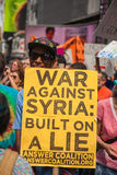 LIES. New York City protest of Syrian invasion Royalty Free Stock Photo
