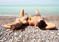 Lies On To The Beach Royalty Free Stock Photos
