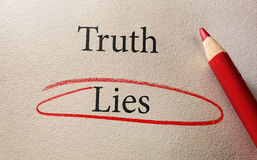 Lies red circle Stock Images
