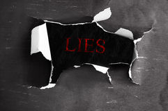 Lies revealed royalty free stock images