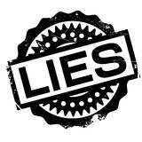 Lies rubber stamp Stock Photography