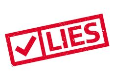 Lies rubber stamp Stock Photos